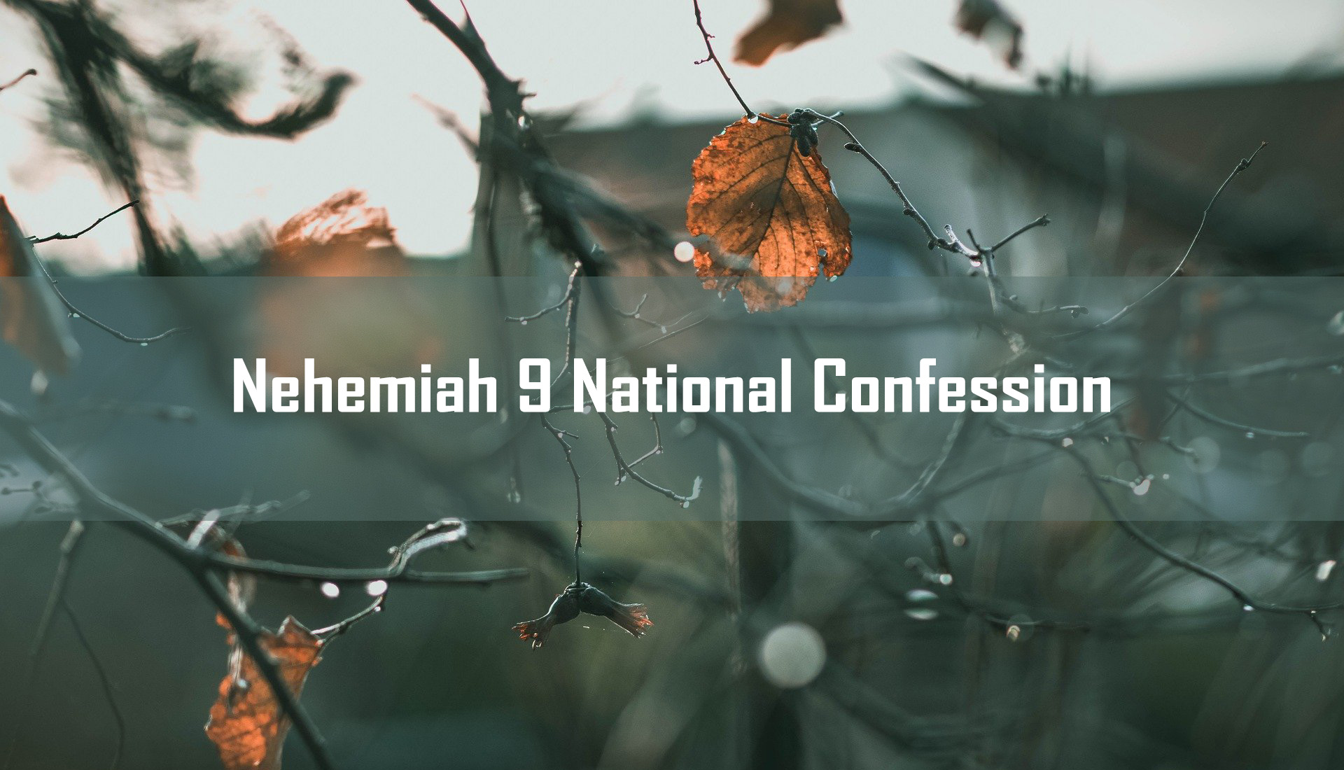 Nehemiah 9 National Confession <br/> Vinod Samuel