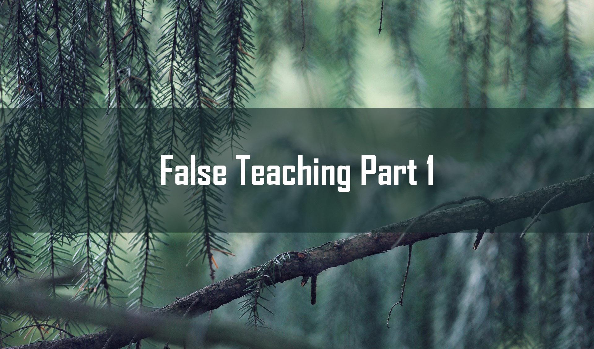 False Teaching part 1<br/> Vinod Samuel