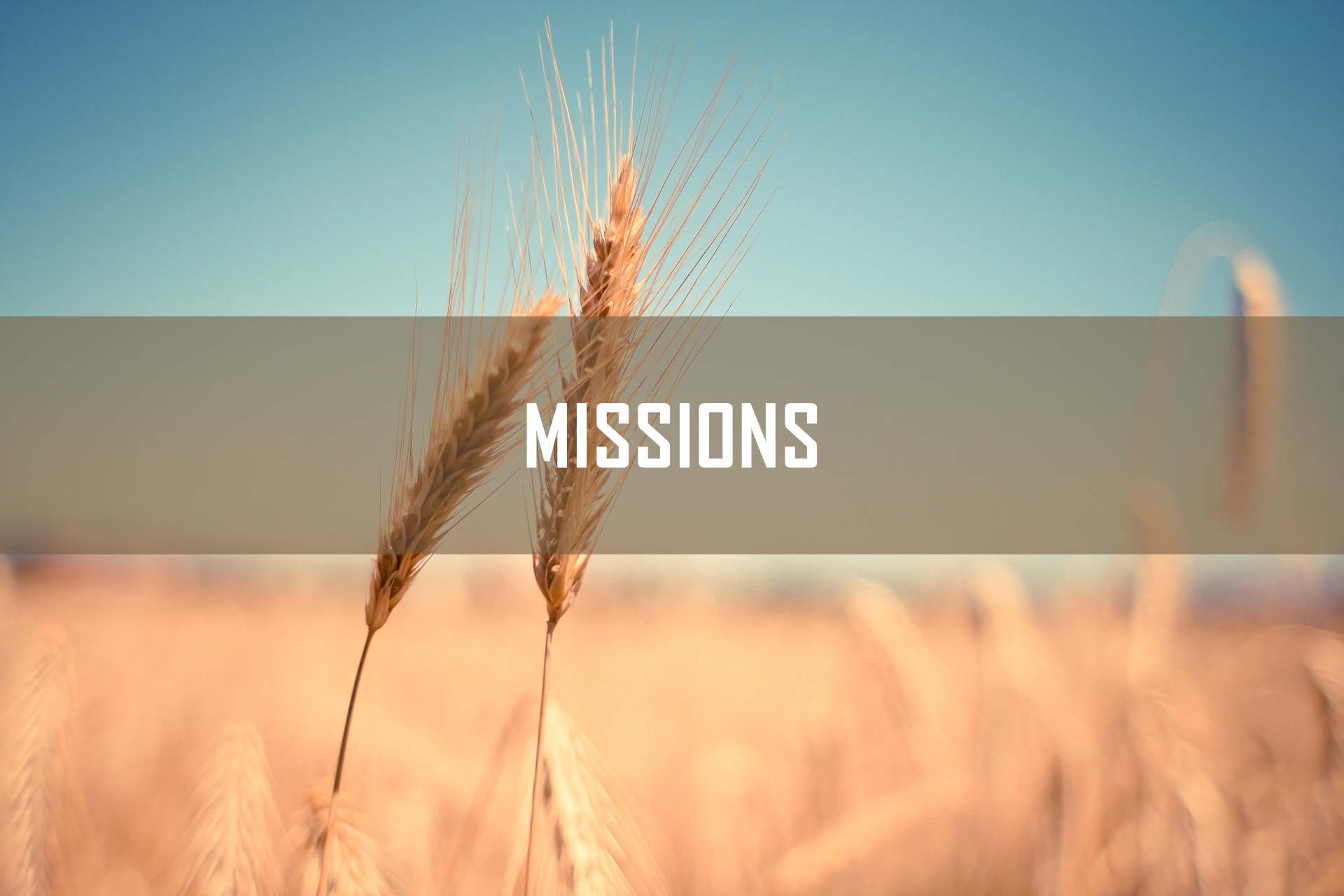MISSIONS <br/> Jacob K Mathai
