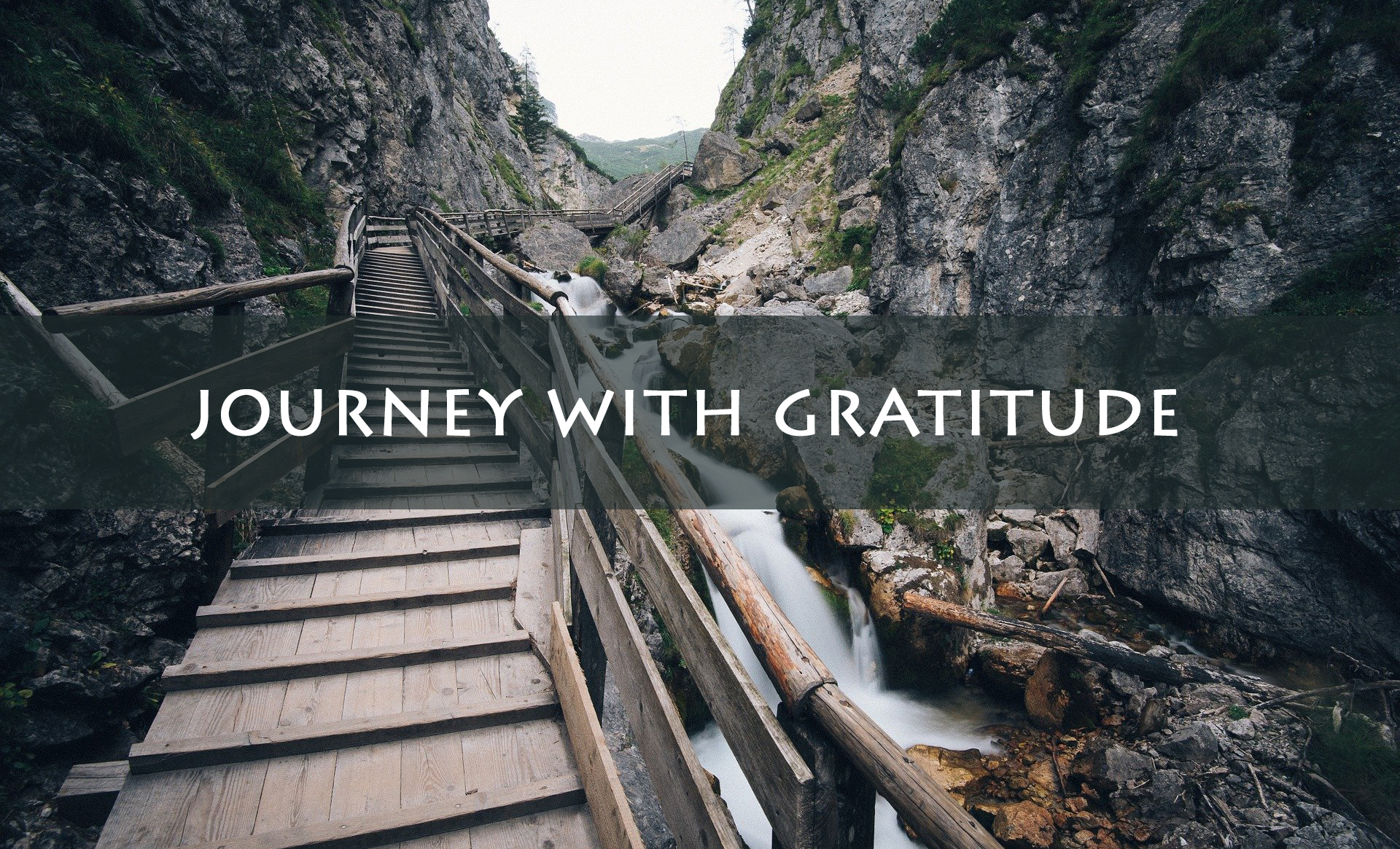 Journey with gratitude <br/> Mathai John