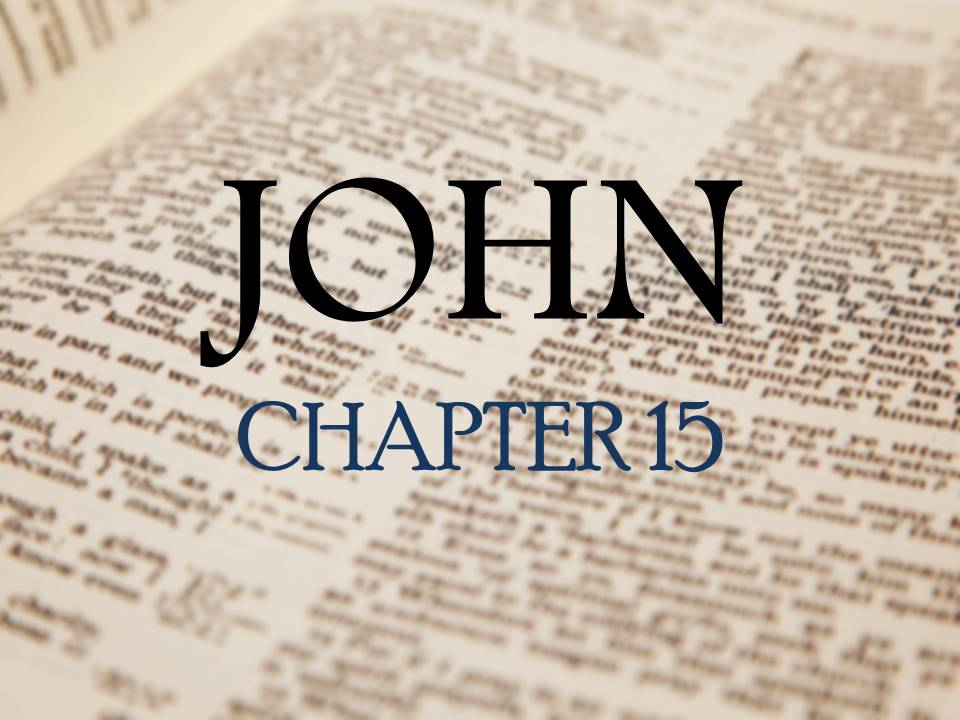 Study on John 15 <br/> Jacob K Mathai