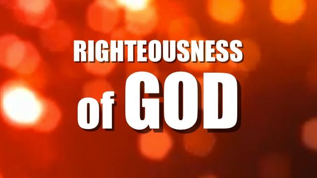 RIGHTEOUSNESS OF GOD <br/> VINOD SAMUEL