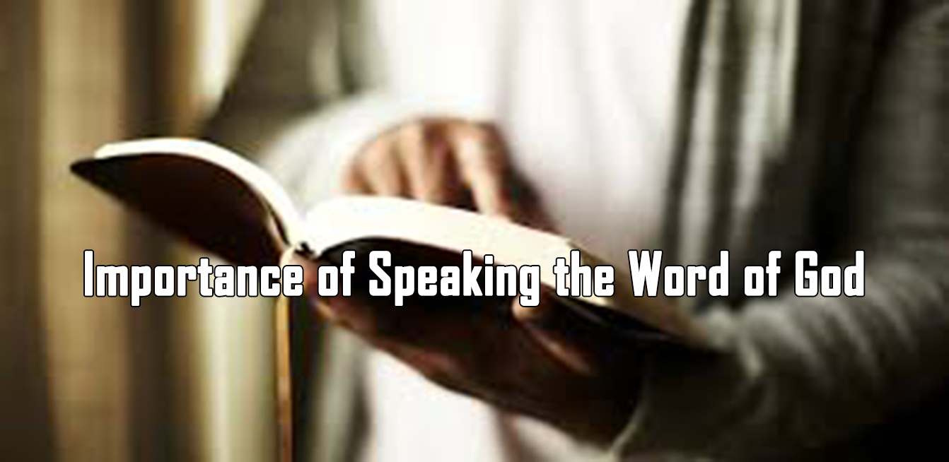 Importance of speaking the word of God<br/>Nicholas Pereira
