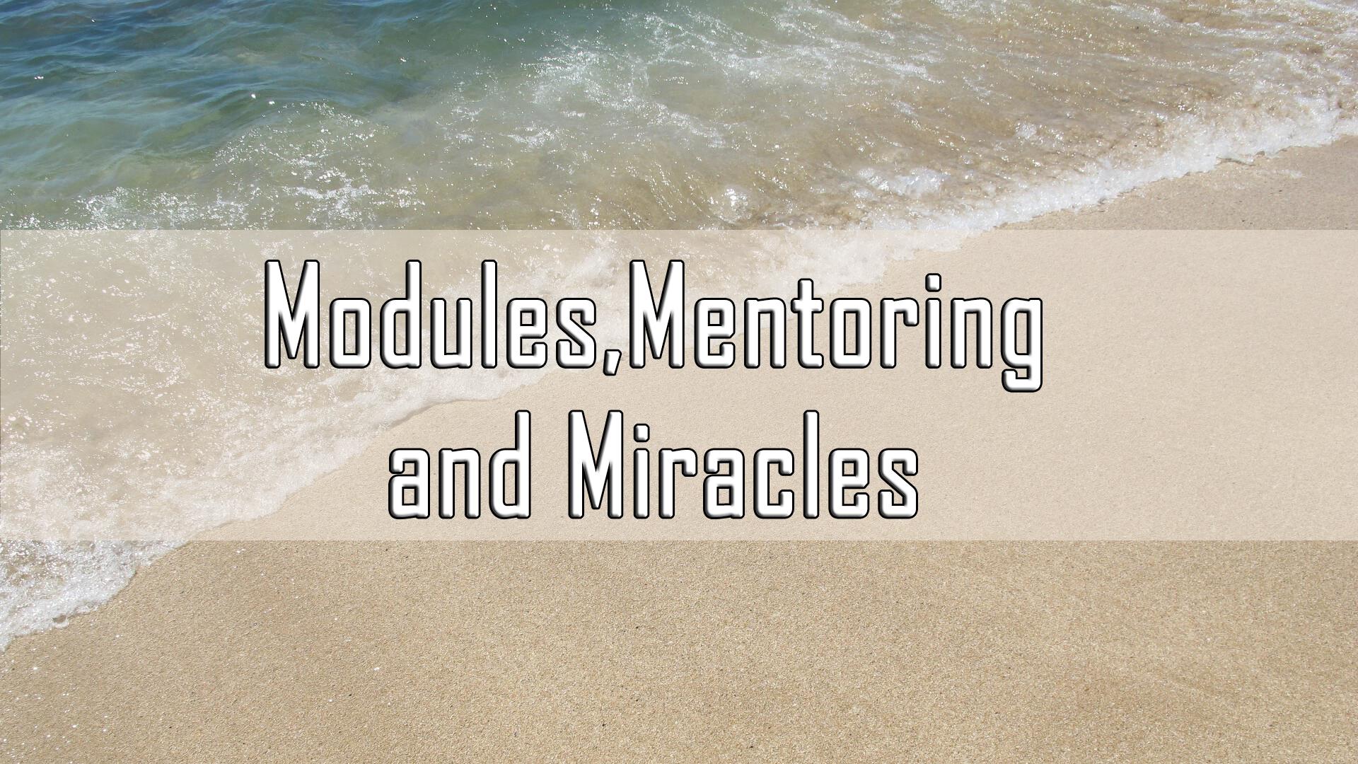Modules,Mentoring and Miracles <br/>Vinod Samuel