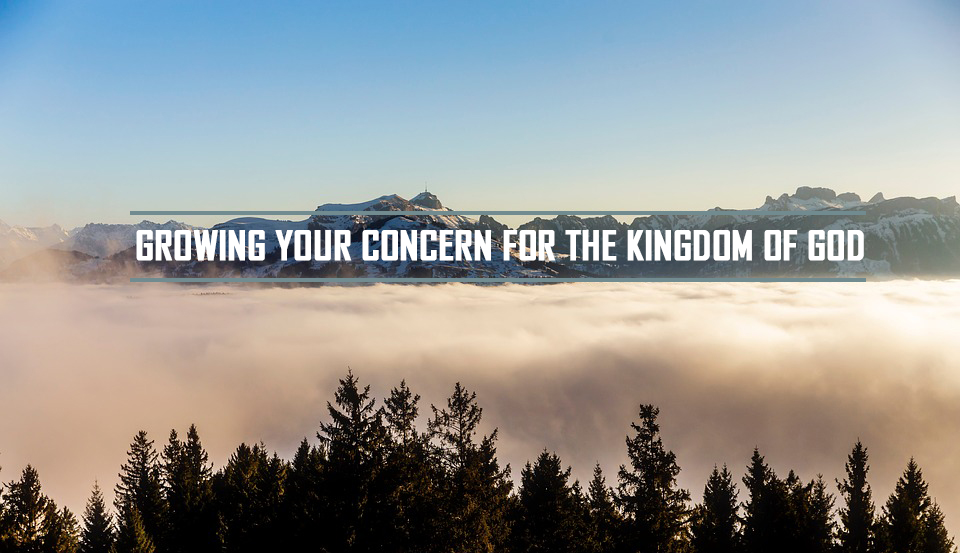 GROWING YOUR CONCERN FOR THE KINGDOM OF GOD <br> James Satchy
