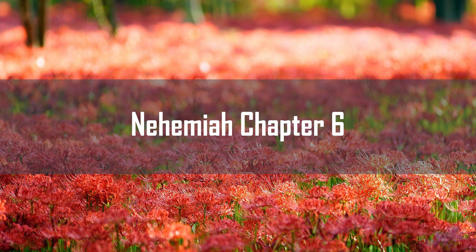 Nehemiah Chapter 6<br/> Sunil Abraham</br>