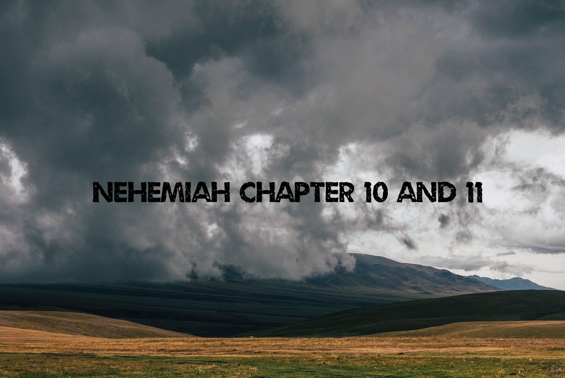 Nehemiah chapter 10 & 11 <br/> Vinod Samuel