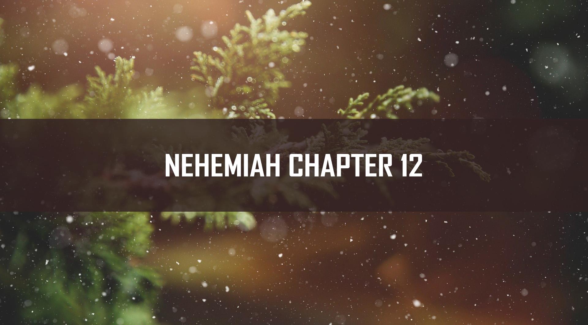 Nehemiah Chapter 12 <br/> Vinod Samuel