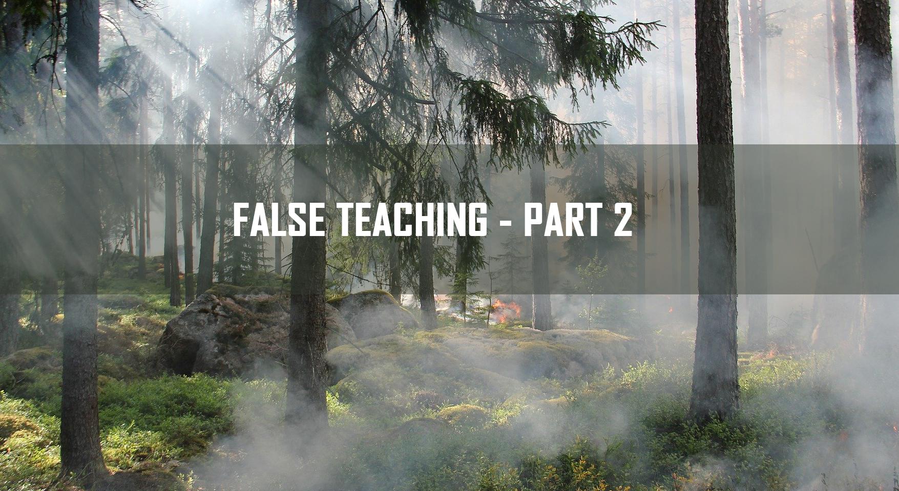 False Teaching Part 2 <br/> Vinod Samuel