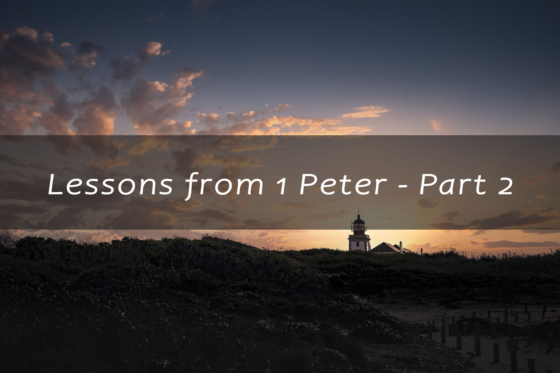 Lessons from 1 Peter part 2<br/> Jacob K Mathai