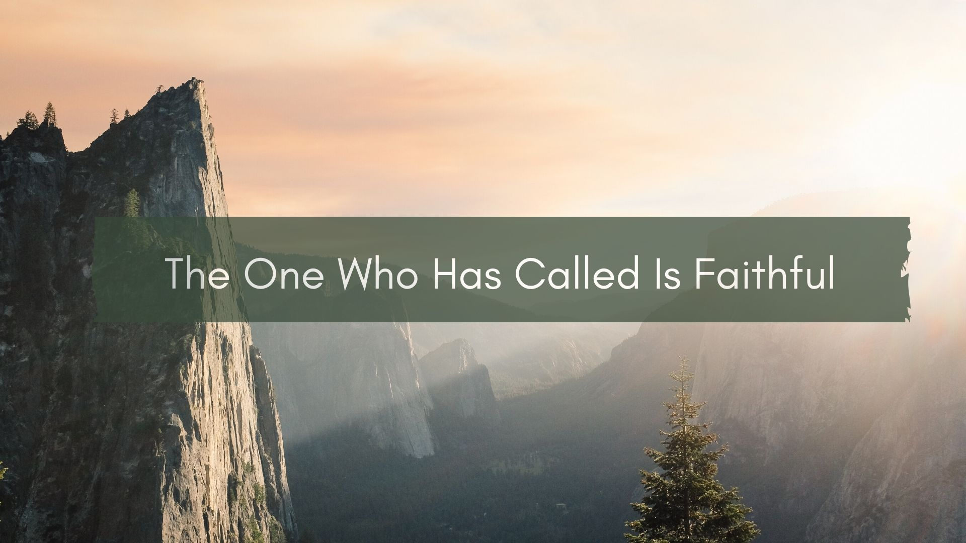 The One who has called is faithful <br/> Joby Joy