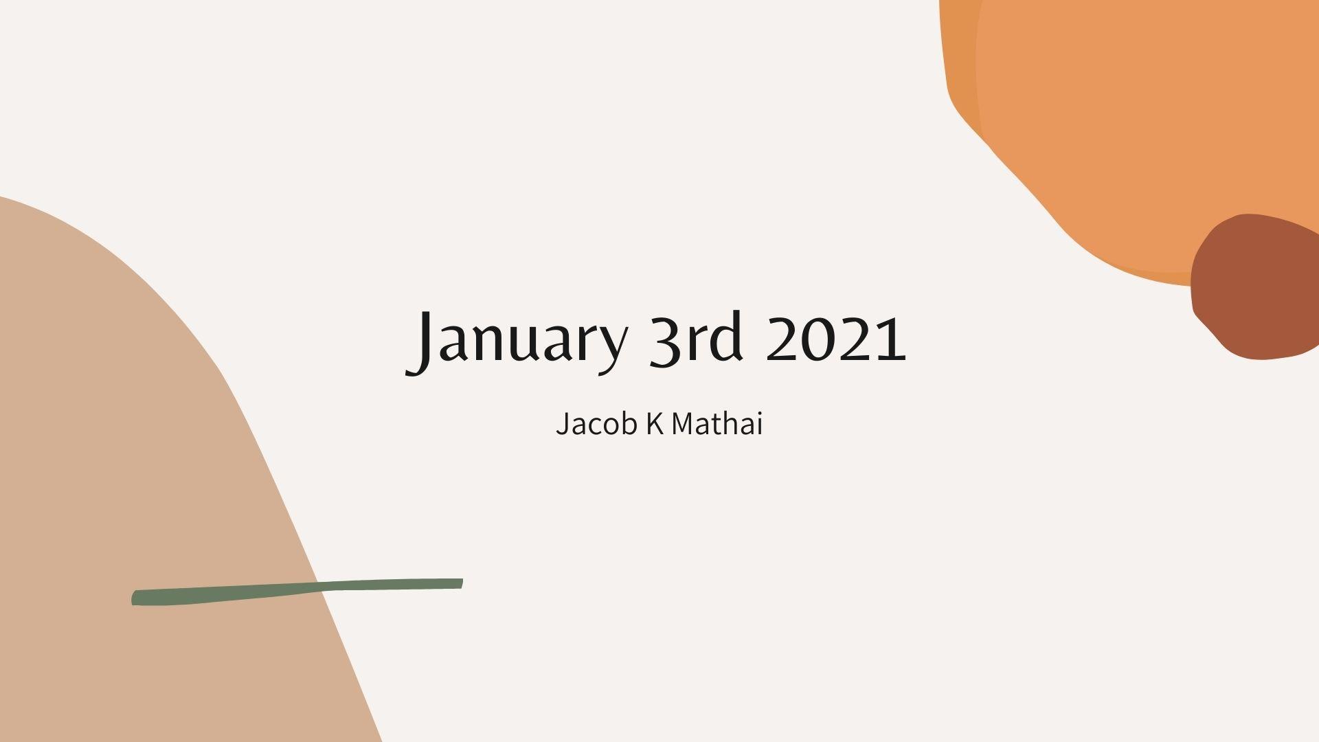 Philippians 3 <br/> Jacob K Mathai