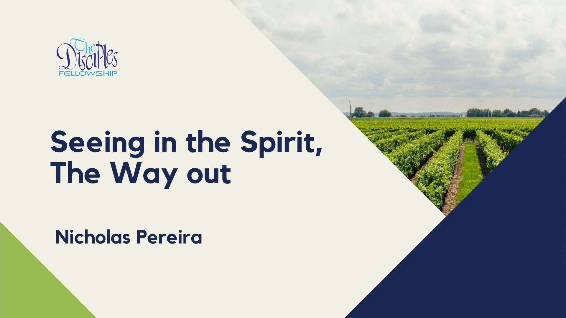 Seeing in the Spirit, The Way out <br/>Nicholas Pereira